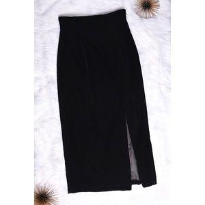 Escada 100% Silk Velvet Pencil Skirt W/ Slit